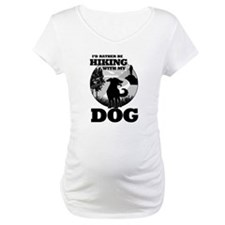 I'd Rather Be Hiking With My Dog Scene Shirt