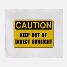Direct Sunlight Throw Blanket