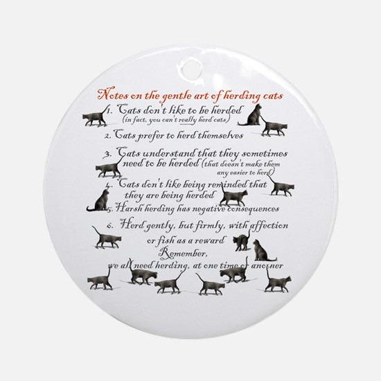 Herding cats Ornament (Round)