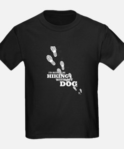 I'd Rather Be Hiking With My Dog Tracks T-Shirt