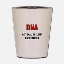 Dyslexia Association Shot Glass