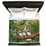 Birds kookaburra Luxe King Duvet Cover