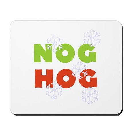 Nog Hog Christmas Mousepad