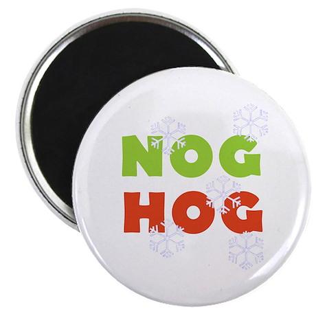 Nog Hog Christmas Magnet