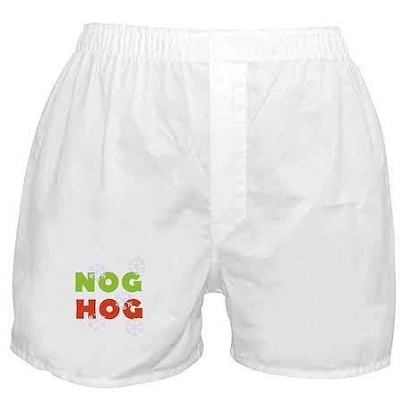 Nog Hog Christmas Boxer Shorts