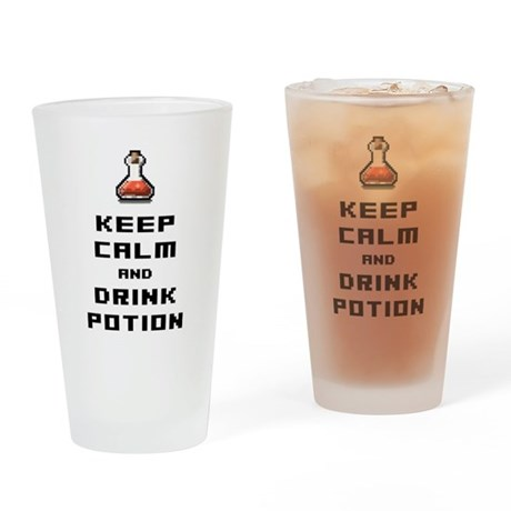 Funny retro rpg keep calm and drink potion Drinkin
