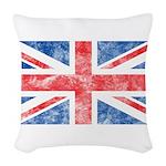Vintage United Kingdom Woven Throw Pillow