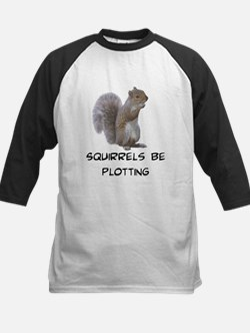 Squirrels Be Plotting Kids Baseball Jersey