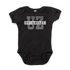 UZ Uzbekistan Baby Bodysuit