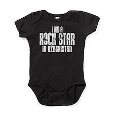 Rock Star In Uzbekistan Baby Bodysuit
