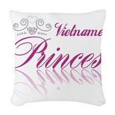 Vietnamese Princess Woven Throw Pillow