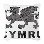 Vintage Cymru Woven Throw Pillow