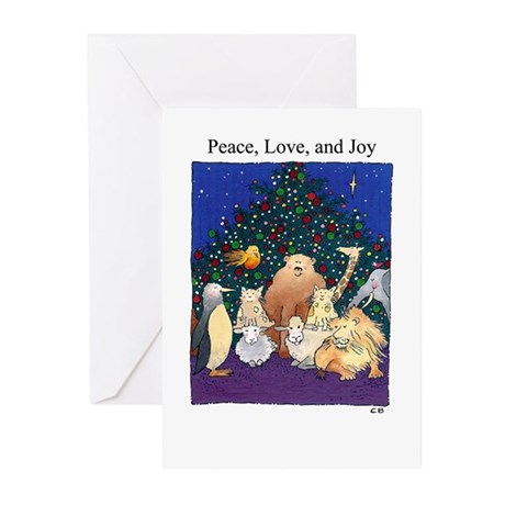 Cynthia Bainton Holiday Cards (Pk of 10) -critters