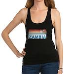 Retro Palm Tree Zambia Racerback Tank Top