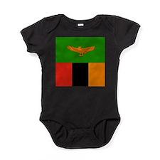 Zambia Flag Baby Bodysuit