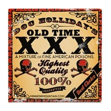 Doc Holliday's Old Time XXX Tile Coaster