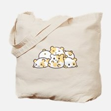 Kawaii Hamster Pile Tote Bag