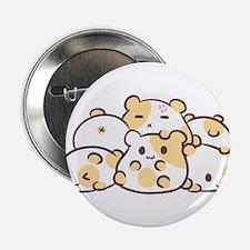 """Kawaii Hamster Pile 2.25"""" Button"""