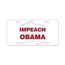 Impeach 3 Aluminum License Plate