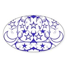 Star Tribal Oval Decal