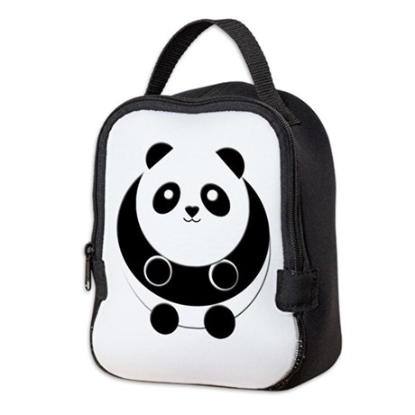Panda Neoprene Lunch Bag