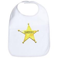 Sheriff Badge Baby Bib