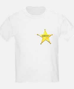 Sheriff Badge Kids T-Shirt