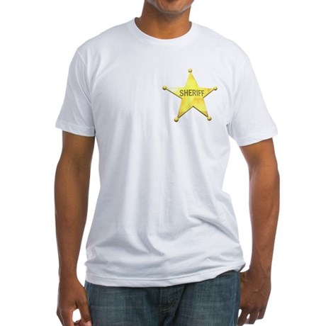 Sheriff Badge Fitted T-Shirt