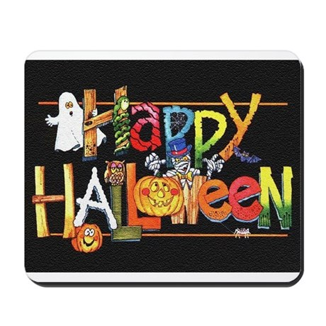 Happy Halloween colorful cuties! Mousepad