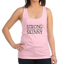 Strong is the new Skinny Black Racerback Tank Top