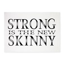 Strong is the new Skinny Black 5'x7'Area Rug