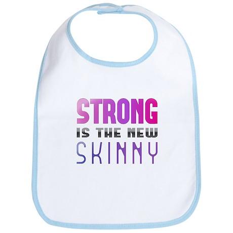 Strong is the new Skinny Purple Bib