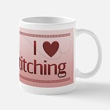 I Love Cross Stitching Mug