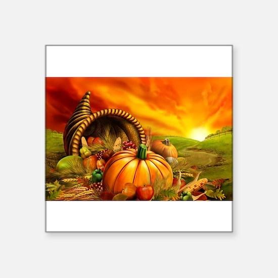 A Thanksgiving Bountiful Harvest Sticker