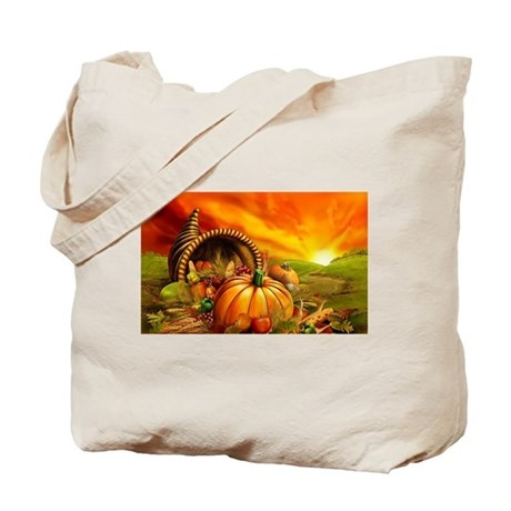 A thanksgiving bountiful harvest tote bag by listing store for Bountiful storage