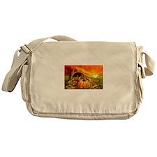 A Thanksgiving Bountiful Harvest Messenger Bag