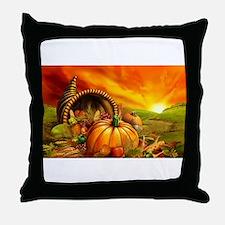 A Thanksgiving Bountiful Harvest Throw Pillow