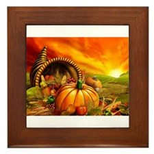 A Thanksgiving Bountiful Harvest Framed Tile