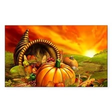 A Thanksgiving Bountiful Harvest Decal