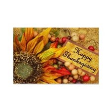 Happy Thanksgiving Rectangle Magnet