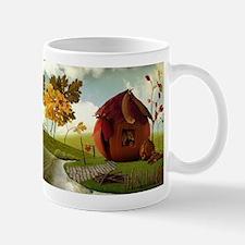 Autumn Pumpkin Fairy House Mug