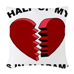 Heart In Alabama Woven Throw Pillow
