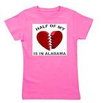 Heart In Alabama Girl's Tee