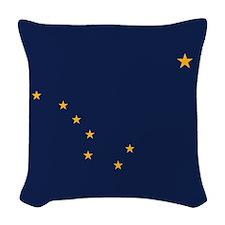 Alaska Flag Woven Throw Pillow