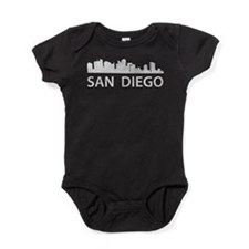 San Diego Skyline Baby Bodysuit
