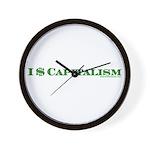 I $ Capitalism Wall Clock