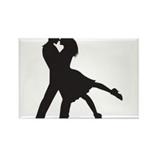 Lovers Rectangle Magnet