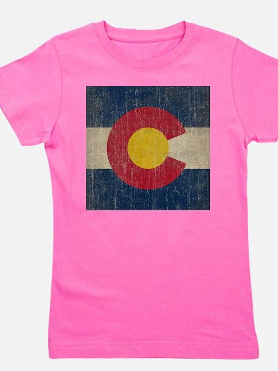 Vintage Colorado Flag Girl's Tee