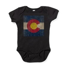 Vintage Colorado Flag Baby Bodysuit