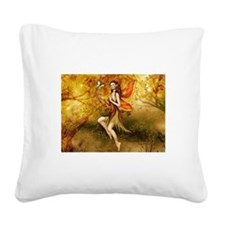 Fall Fairy Square Canvas Pillow